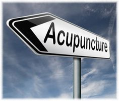 Follow the sign to acupuncture