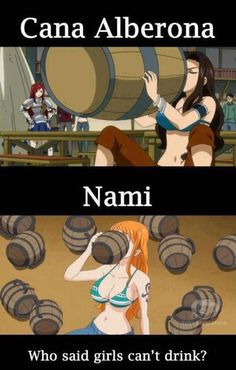 Cana (Fairy Tail) and Nami (One Piece)
