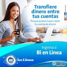 ¡Realiza transferencias entre tus cuentas con tan solo unos clics! #BiEnLinea #ProductosYServicios #BancoIndustrial