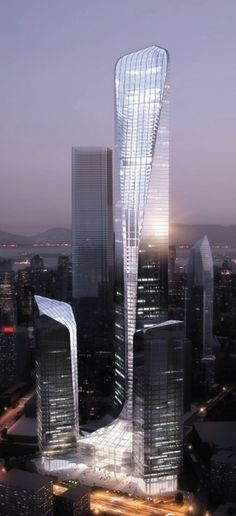 Loncin Center Tower 1, Chongqing, China by Atkins Arhitects :: 56 floors,  height 278m