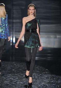 Gucci Fall 2009 One Shoulder Dress as seen on Taraji P. Henson
