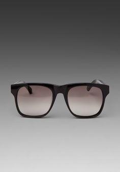 d36a11270ff9 Shop for Karen Walker Pilgrim Sunglasses in Solid Black at REVOLVE.