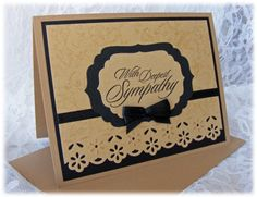 handmade sympathy cards | Such a Card / Elegant Handmade Sympathy Card with in warm, calming ...