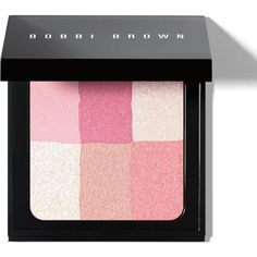 Bobbi Brown Brightening Brick (€41) ❤ liked on Polyvore featuring beauty products, makeup, cheek makeup, blush, beauty, make, maquillaje, pastel pink, blender brush and pink blush