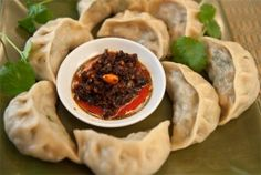 momos, tibetan dumpling. recipe for both beef and vegetable filling