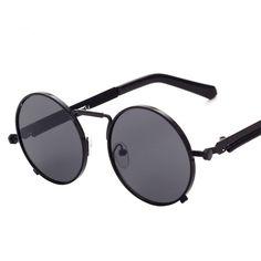 1140a903417b2 2016 Steampunk round Sunglasses Men Women Brand Glasses oculos gafas de sol  feminino lunette soleil masculino