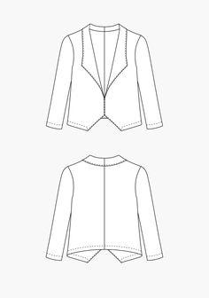 grainline studio's Morris Blazer PDF pattern 12usd. could use a mash of gabrielle blazer & cali faye crop enlarged