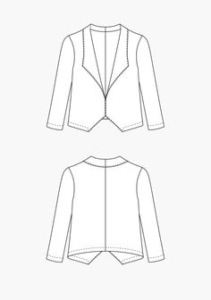 Morris Blazer PDF Can lengthen, and grade out at the hip line for a more relaxed look.