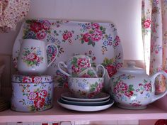 cath kidston tea set by patchwork and lace, via Flickr