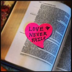 Make a poster that writes out 1 Corinthians 13 verses 4-8a and verse 13. Wherever you see the word LOVE, leave a blank instead. Post it in a prominent place. (It will read something like this: _______is patient. _______ is kind.) Whenever someone catches someone else exhibiting that particular characteristic, he or she will write that person's name in the blank.