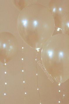 Balloons with ribbon lights. Balloons Pinterest Led balloons, Balloon columns and Columns