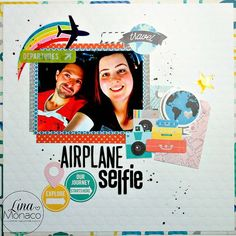 Uploaded this layout and process video today, Airplane Selfie. #scrapbook #scrapbooking #layout #pinkpaislee @pinkpaislee #Atlas #pinkpaisleeatlas #paper #papercrafting #photography