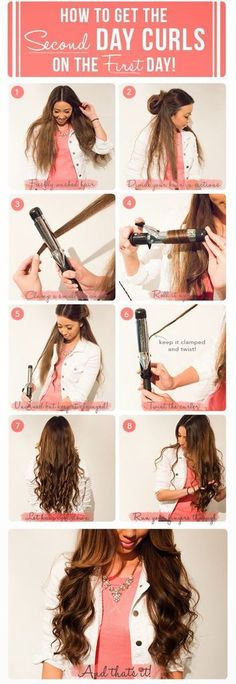 How to create pretty curls.