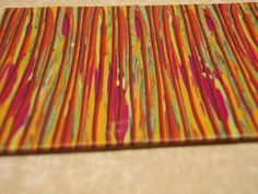 How to make stripes from scrap clay from Naama Zamir. #Polymer #Clay #Tutorial