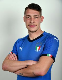 Andrea Belotti of Italy poses during the official portrait session at Coverciano on November 6, 2017 in Florence, Italy.