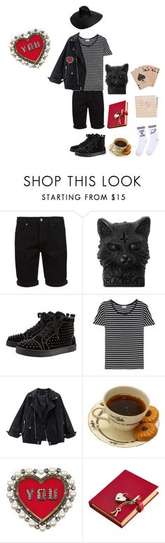 """{Artem's First Date}"" by benevolent-bby ❤ liked on Polyvore featuring Topman, Christian Louboutin, Yves Saint Laurent, Lanvin, Amara, Yeah Bunny, Hahn, OC, clotheshavenogender and ArtemOC"