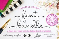 Font Bundle by Joanne Marie on Creative Market
