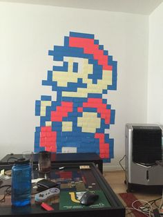 #Mario Post-It Note Art