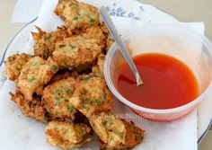 Chinese Chives, Jicama and Krill Fritters