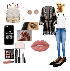 """Untitled #1"" by kelseycheyanne0109 ❤ liked on Polyvore featuring City Chic, Melissa Odabash, Miss Selfridge, Accessorize, Michael Kors, Revlon, Lime Crime, MAC Cosmetics, Smashbox and Marc Jacobs"