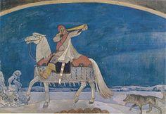 Kullervon sotaanlähtö – (Kullervo rides to war)