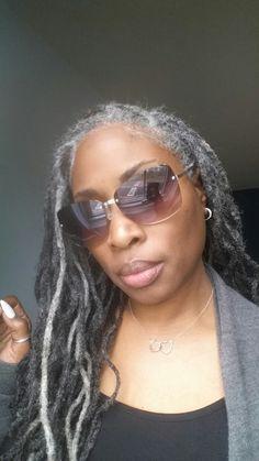 Woman with Long Gray Dreadlocks Over 50 Pinterest
