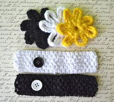 Pittsburgh Steelers Set  3 Crocheted by ScarlettInspiration, $6.00