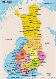 Map of Finland Where is Finland located at? In Europe What country is Finland? Finland is a Republic. Is Finland an expensive country? Yes, Finland, like all Sc Finland Map, Finland Travel, Lapland Finland, Greek Islands Vacation, Cartography, Pilgrimage, Travel Posters, Norway, Parks