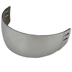 PC de la alta calidad de Plata reflectante visor para hockey sobre hielo con Anti-cero para ambos lados