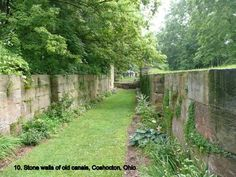 Old stone walls of old canals....