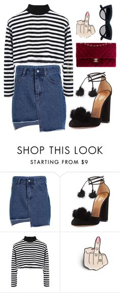 """""""Untitled #116"""" by minia001 ❤ liked on Polyvore featuring Aquazzura and Chanel"""