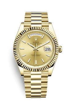 bdea1cb4dab Discover the Day-Date 40 watch in 18 ct yellow gold on the Official Rolex