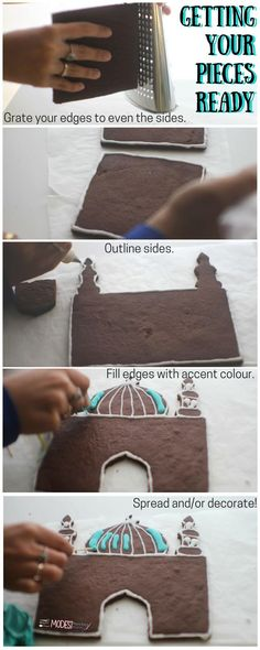 This would be a cute Ginger bread Mosque to make with your children... A variant on the traditional gingerbread house...