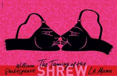 New York This is Luba Lukova's latest poster design for The Taming of the Shrew by William Shakespeare at La MaMa e. (final poster at top, poster sketch below and a detail of conceptual sketche. Luba Lukova, Graphic Art, Graphic Design, Posters, Funny Ideas, Shakespeare, Bookcase, Sketch, Artists