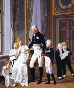 1806 Friedrich Wilhelm III and His Family by Heinrich Anton Dähling (location unknown to gogm) | Grand Ladies | gogm