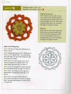 """"""" MOSSITA BELLA PATRONES Y GRÁFICOS CROCHET """": Beyond the Square Crochet Motif  Círculos # 1-16"""