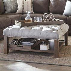 cocktail ottoman with trays - Google Search