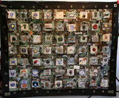 scouts patch display | Idea for Scout patch quilt