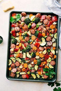 One Pan Healthy Italian Sausage & Veggies   Chelsea's Messy Apron   Bloglovin'
