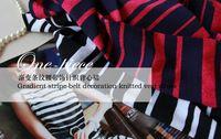 Elegant gradient stripe woven vest skirt 2013 new autumn free shipping top sale