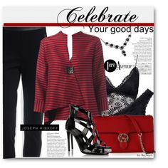 Celebrate Your Good Days by beebeely-look on Polyvore featuring Joseph Ribkoff, Tamara Mellon, Gucci, Avenue, classy, evening, premiereavenue and JosephRibkoff