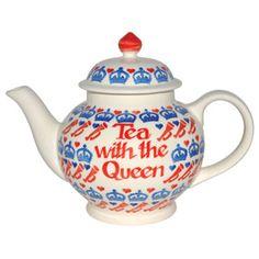 Personalised Diamond Jubilee 4 Cup Teapot
