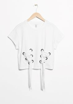 & Other Stories | Lace-Up Detail Top