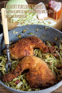 Propozycja na weekend'owy obiad - Ćwiartki kurczaka w mleku z młoda kapustą na skwarkach z boczkiem i świeżym koperkiem http://gotowaniezpasja.pl/miecho/drob/372-cwiartki-kurczaka-w-mleku-z-mloda-kapusta-na-skwarkach-z-boczkiem-i-swiezym-koperkiem #foodphotography #foodporn #fotografiakulinarna #blogkulinarny #gotowaniezpasją #pawełłukasik #grzegorztargosz