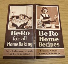 Be-Ro Home Recipes book. Still use mine and just about to order a new one!,,,,