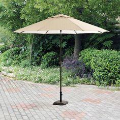 Mainstays Brookwood Landing 9' Umbrella, Tan