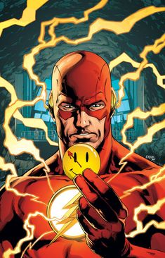 "DC announces ""The Button,"" a new Batman/Flash crossover that will shed light on how the characters of Watchmen factor into DC Rebirth. Arte Dc Comics, Flash Comics, Dc Rebirth, Dc Universe Rebirth, Batman Begins, Flash Crossover, Flash Wallpaper, Comic Art Community, Comic Kunst"