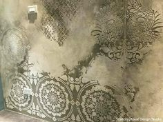 Mandala Fusion Tile Stencil Jaw-Dropping Wall Plaster Finishes with Large Wall Stencils & NovaColor – royaldesignstudio… Faux Walls, Plaster Walls, Textured Walls, Wood Walls, Faux Painting, Stencil Painting, Texture Painting, Stencil Walls, Wall Stenciling