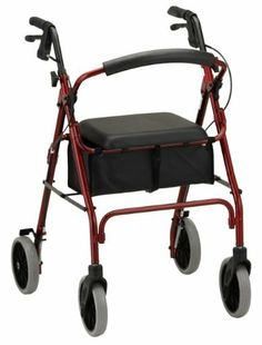 Nova Zoom 24 Rolling Walker, Red by Nova. $104.99. Do not ambulate or use as a transport chair or use on stairs, escalators, or moving walkways. WARNINGS: Lock hand brakes before sitting and while seated.  Seat is for stationary seating only. Seat height specific. Foldable, flip up back,the large padded seat makes sitting comfortable with a 2 thick pad. Backrest must be attached to the walker prior to operating. Live life to the fullest with your Nova  the very best i...
