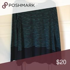 Sophie Max green and black striped top Never worn, no tags. Black and green striped top. Sophie Max Tops Tees - Long Sleeve